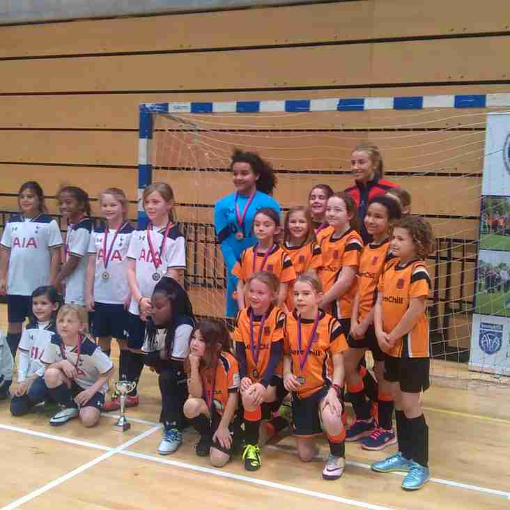 Hearts Girls go to the Copper Box CGL Futsal Competition!