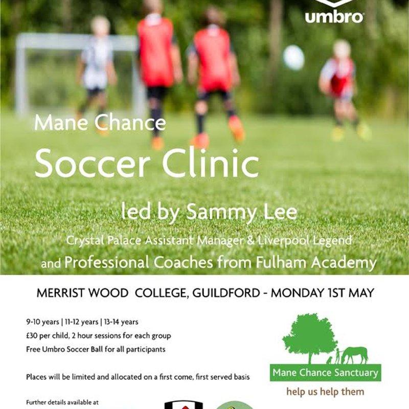 Mane Chance Soccer Clinic