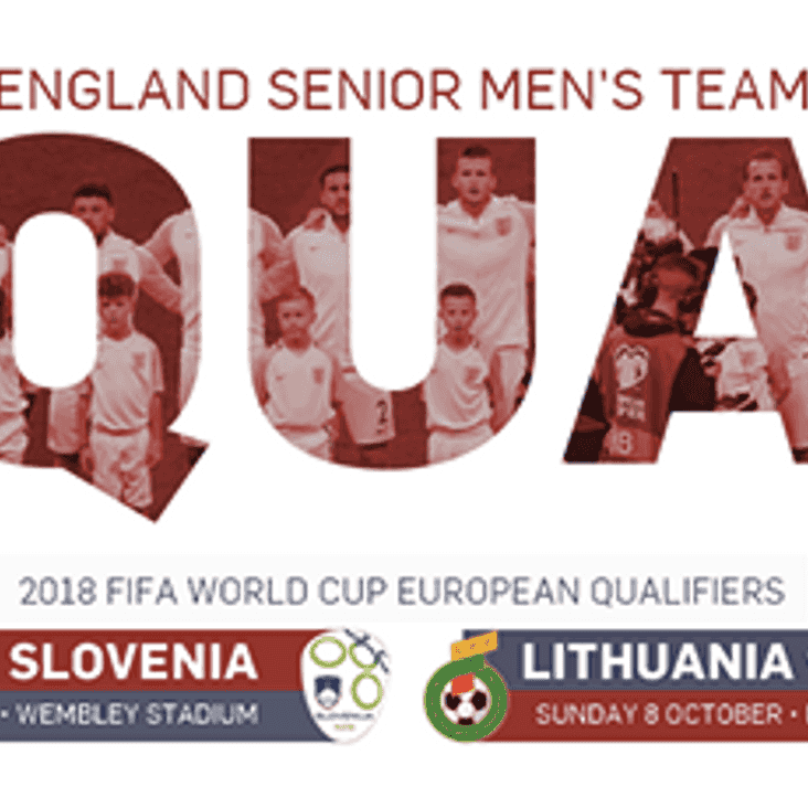 England squad announced -  Join us next Thursday!