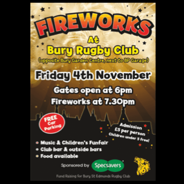 Fireworks Night Spectacle, sponsored by Specsavers