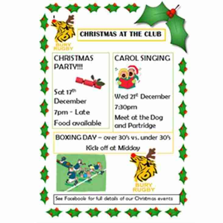 BSE Rugby Club Christmas Events