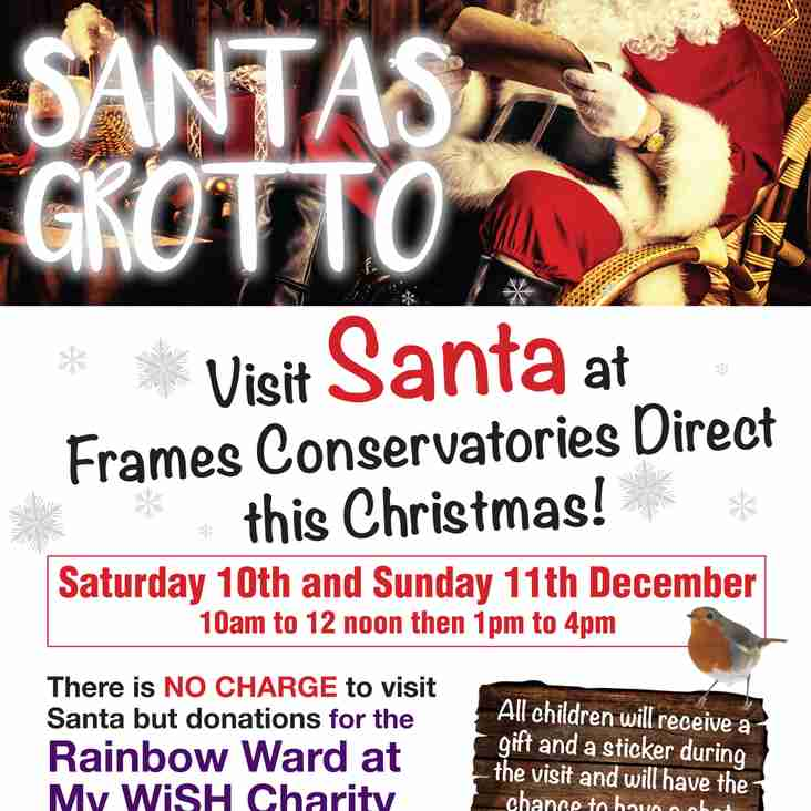 Visit Santas Grotto this weekend at FCD, in aid of Rainbow Ward