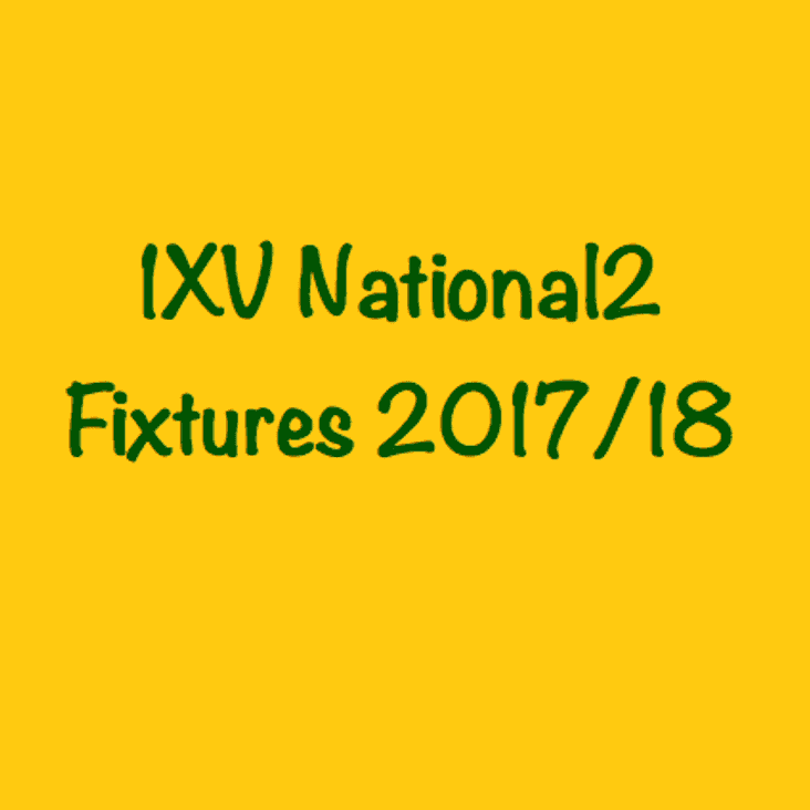 1XV National League 2 South Fixtures 2017/18