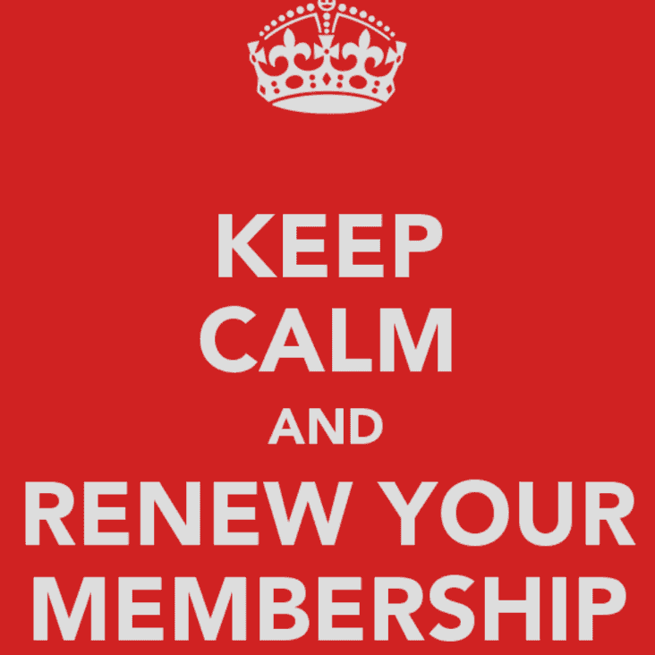 TIME TO RENEW YOUR CLUB MEMBERSHIP