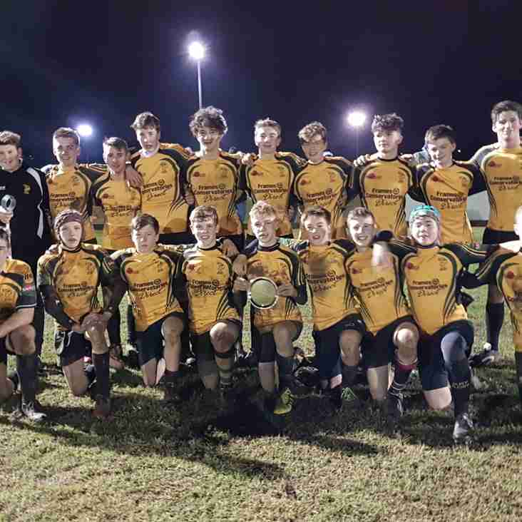 U15s win Suffolk Plate and go through to the Cup