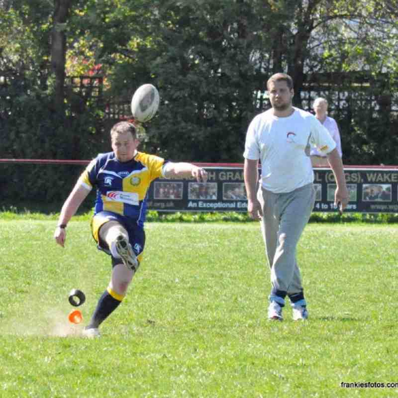 James Flynn having dig at goal
