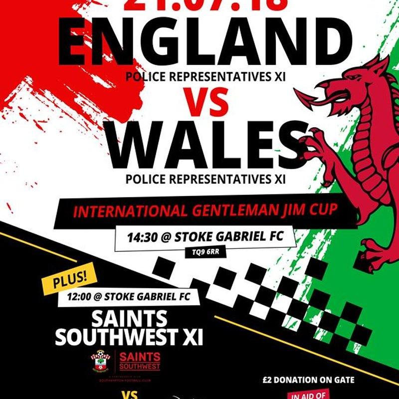 England v Wales Police Res sides
