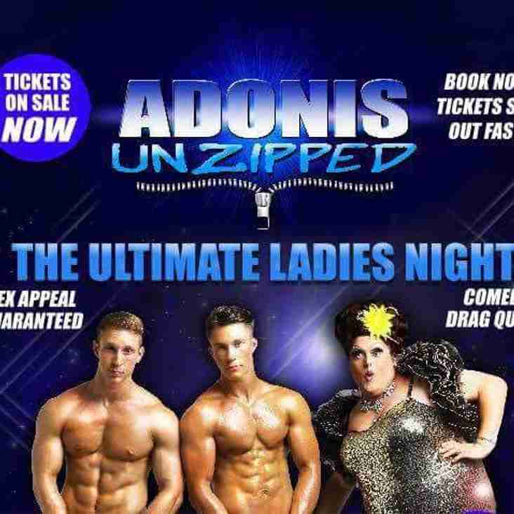 Ladies Night - 26th May - Click here for details of this ticketed event
