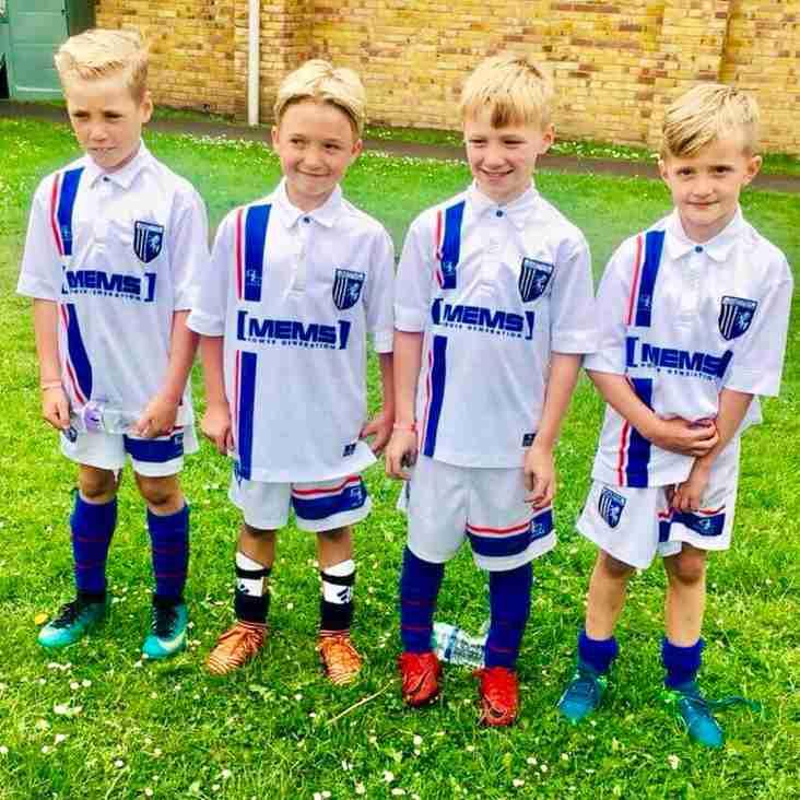 1 Jun:  Fab Four make their Gillingham debut