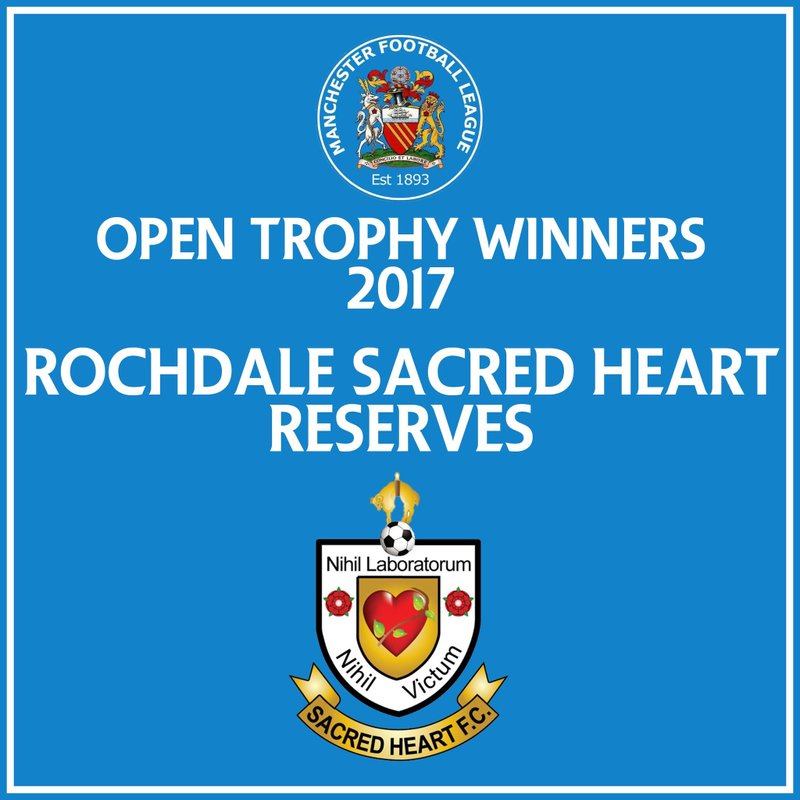 RESERVES ARE OPEN TROPHY WINNERS!