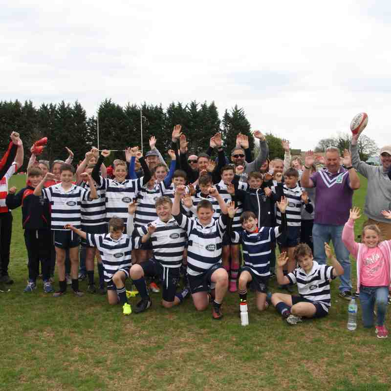 SRFC Under 12s on Tour @ Stow RFC, April 2017