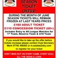 Early Bird Season Ticket Offer