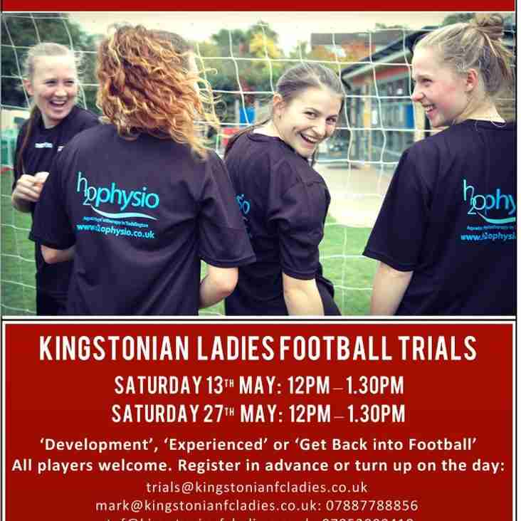 Ladies' Team Trials - 13 & 27 May