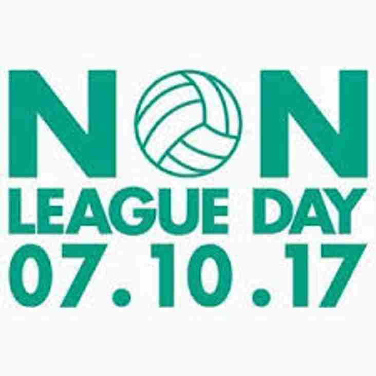 NON LEAGUE DAY - 7th OCTOBER 2017