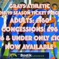 SUPPORT YOUR CLUB & BECOME A SEASON TICKET HOLDER