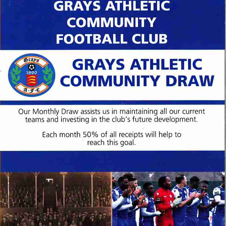 LAUNCH OF THE GRAYS ATHLETIC COMMUNITY FOOTBALL CLUB MONTHLY DRAW