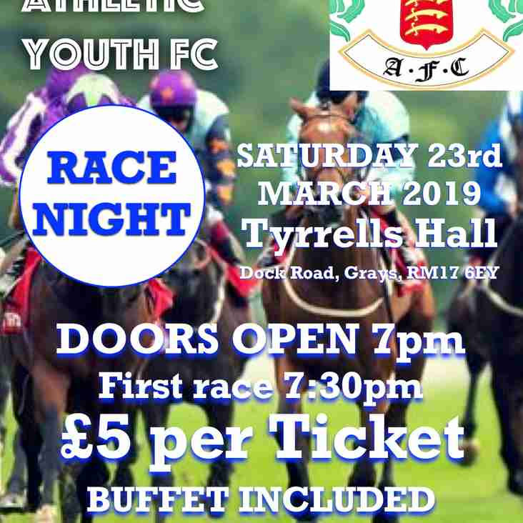 GRAYS ATHLETIC YOUTH - RACE NIGHT
