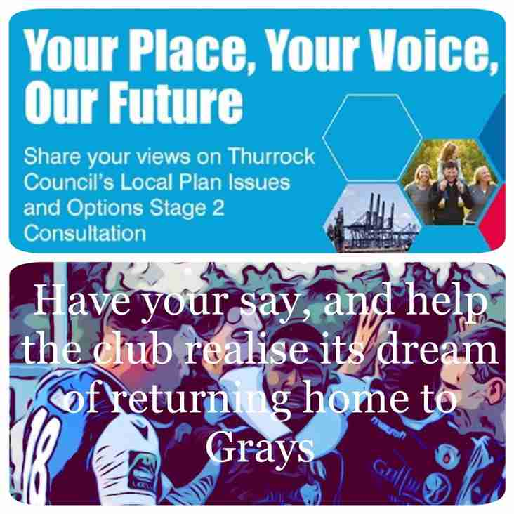 LOCAL PLAN - HAVE YOUR SAY AND HELP BRING THE BLUES HOME