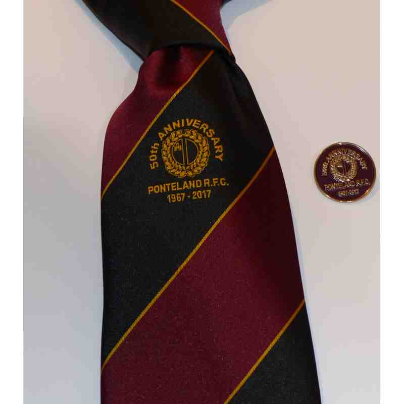 50th Anniversary Tie and Lapel Badge