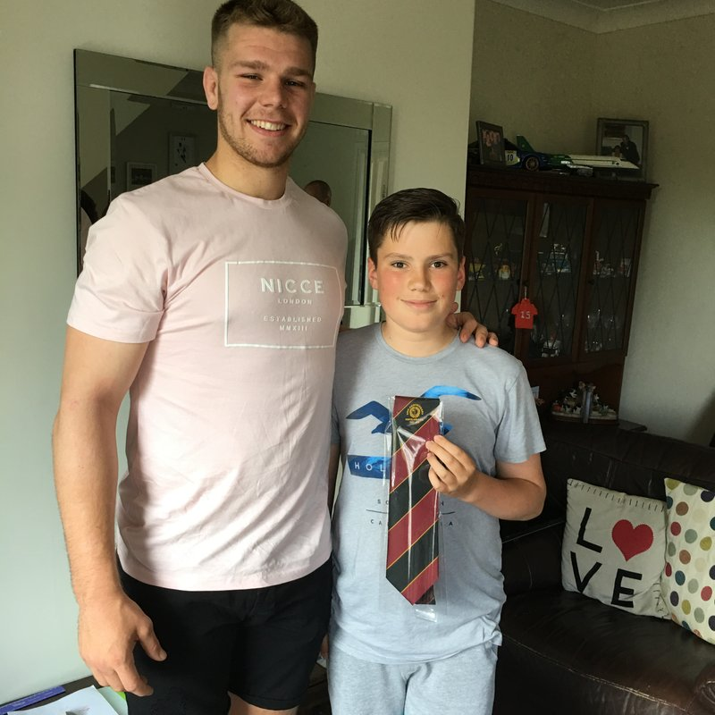 Ponteland junior player recognised for his charity donation