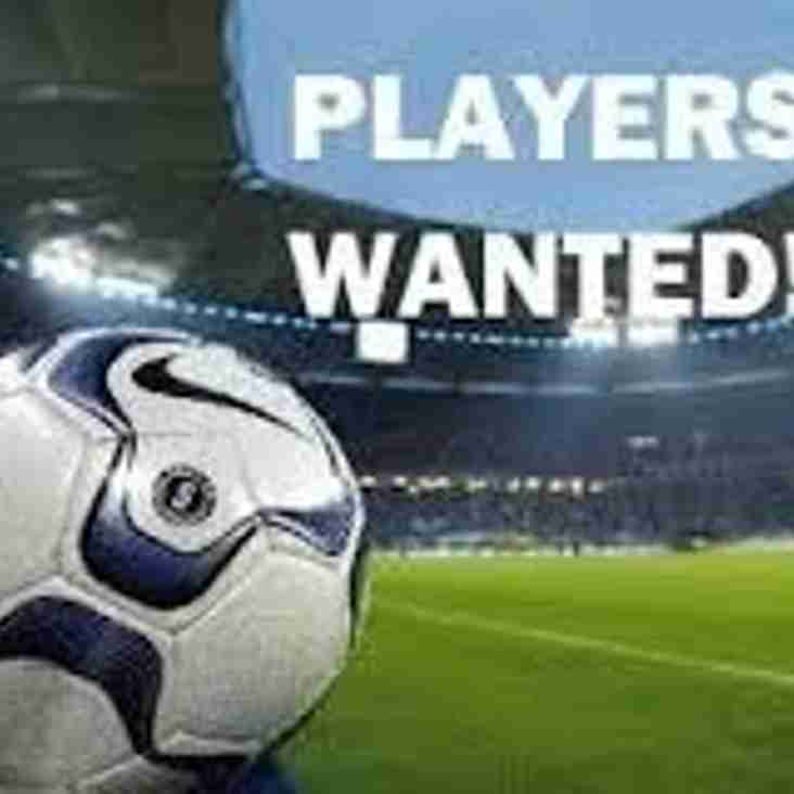 NEW UNDER 13 PLAYERS REQUIRED