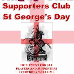 St Georges Day Celebration & End of Season Presentation for All Players, Supporters and members
