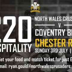 Hospitality for NW Crusaders game available