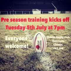 Pre season training starts Tuesday 5th July