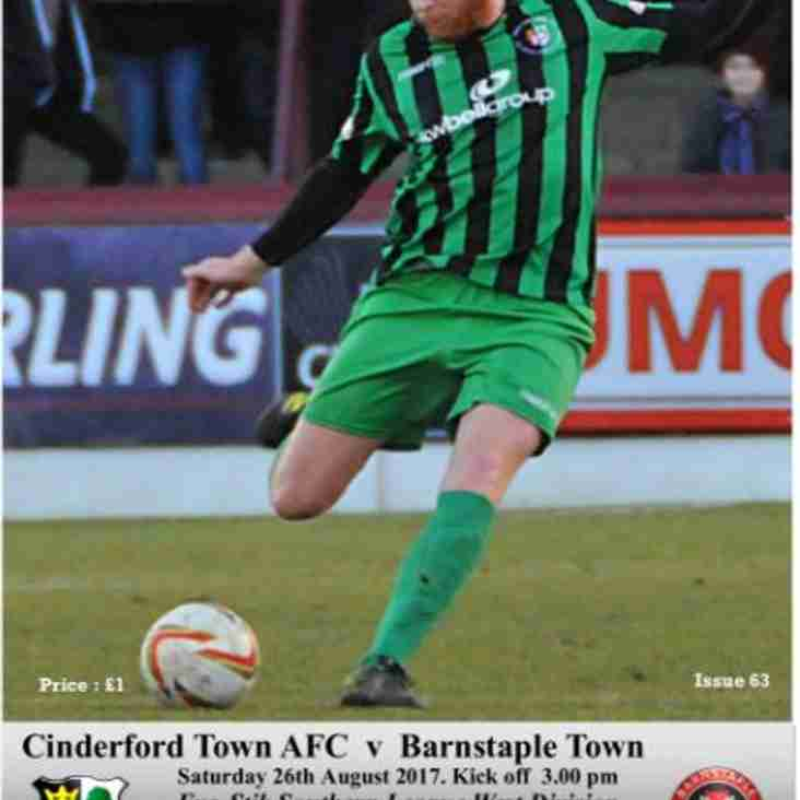 Matchday Programme vs Barnstaple Town - Now online!