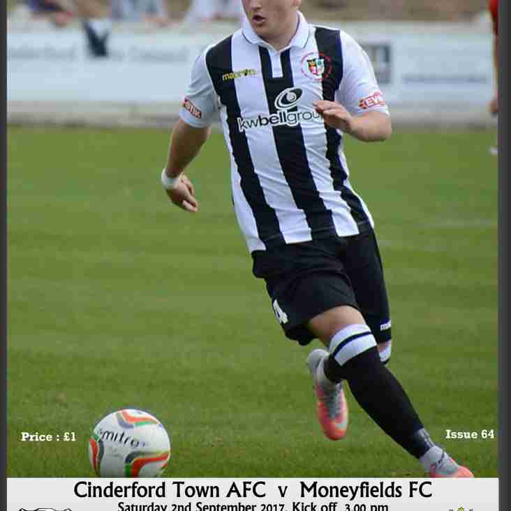 Matchday Programme vs Moneyfields FC (FA Cup) Now Online!
