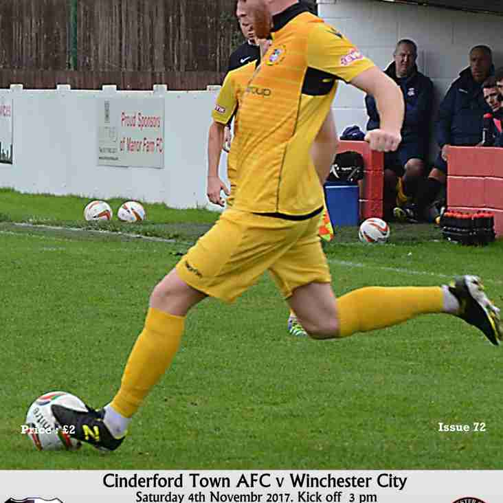 Matchday Programme - Cinderford Town vs Winchester City