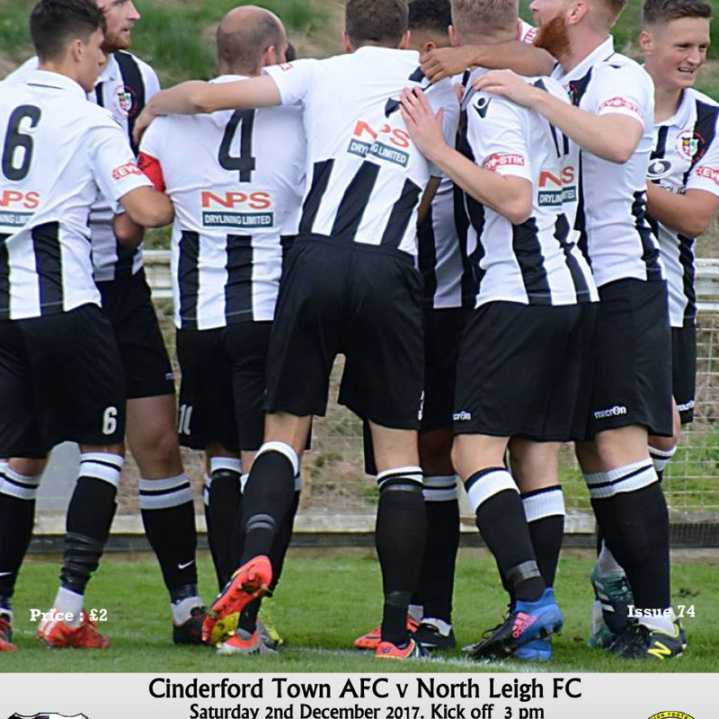 Matchday Programme: Cinderford Town vs North Leigh