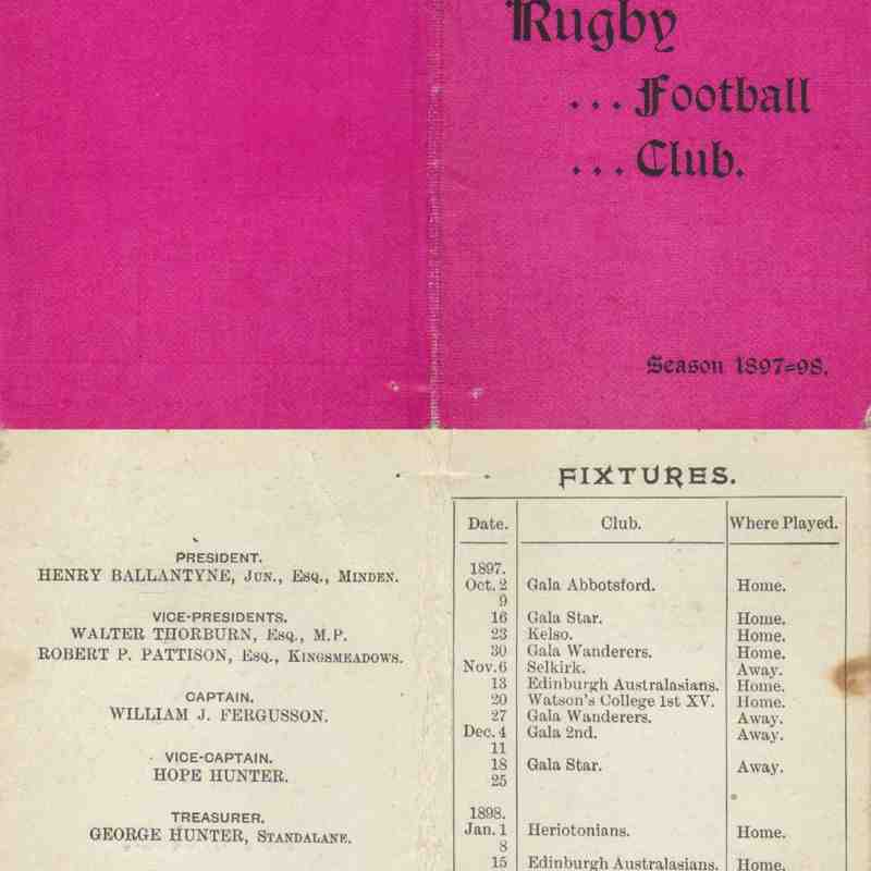 Fixture Cards from the past