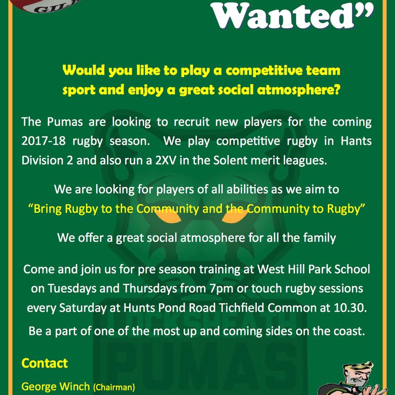 Pumas Recruitment Event