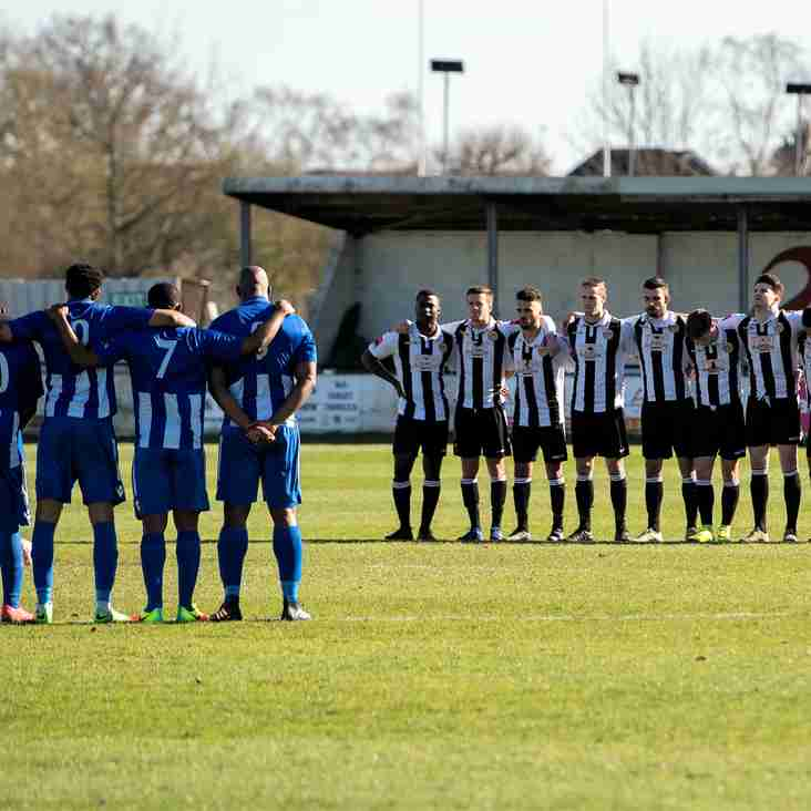 League falls silent for terror victims