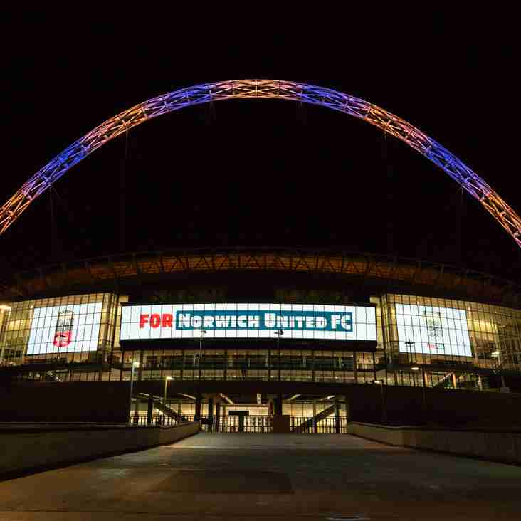 Wembley Stadium Lights Up For Norwich United