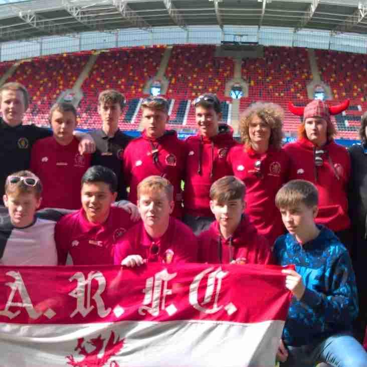 Under 16 trip to Ennis RFC