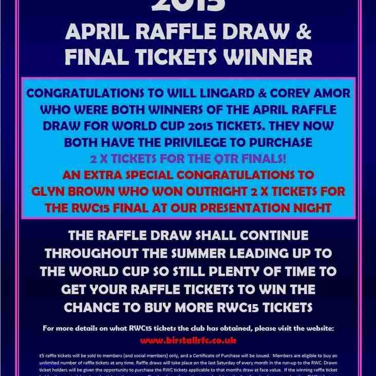 RWC15 APRIL RAFFLE DRAW & FINAL WINNER