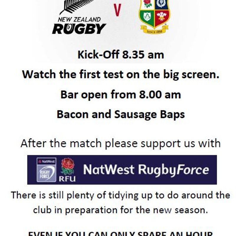 Watch the Lions at Newport Rugby Club