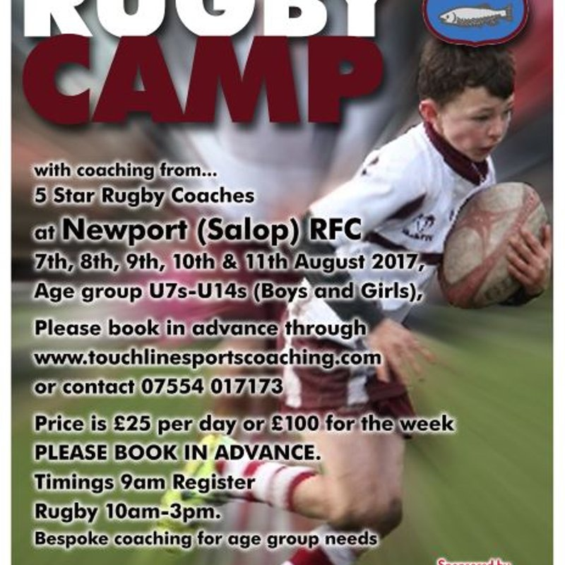 Newport Rugby Camp - book now