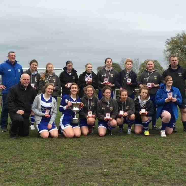 Ladies receive County League Championship trophy and medals at final league game