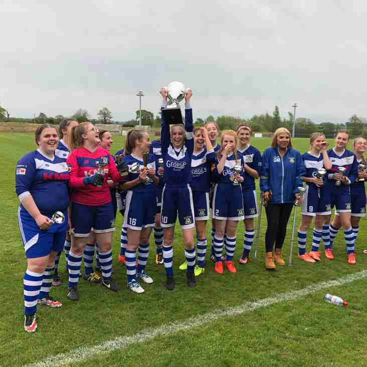 LEEK TOWN U18 GIRLS COMPLETE LEAGUE AND CUP DOUBLE
