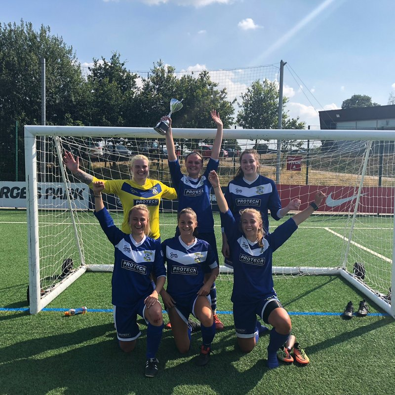 LADIES WIN OPEN AGE 5 A SIDE TOURNAMENT AT ST GEORGES PARK