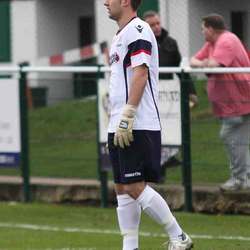 Enfield keeper Nathan McDonald in his new white jersey