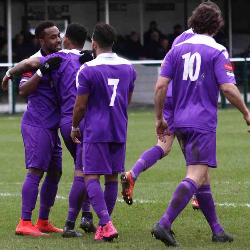 Bobby Devyne (L) celebrates his second goal