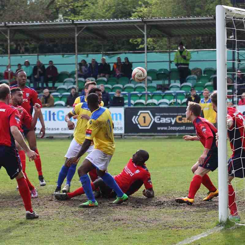 A late goalmouth scramble comes to nothing