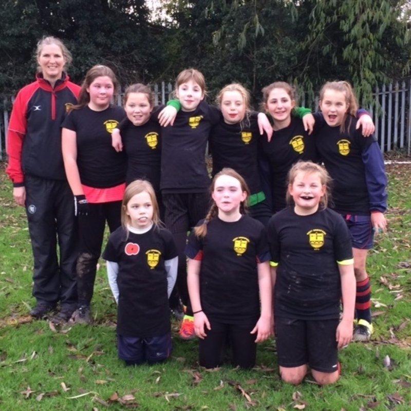 West Bridgford RFC U13 Girls Rugby Team had their first EVER rugby match