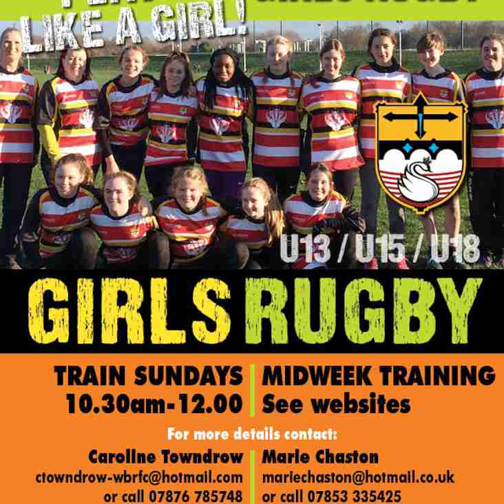 New Recruitment Poster for South Notts Sapphires Girls Rugby