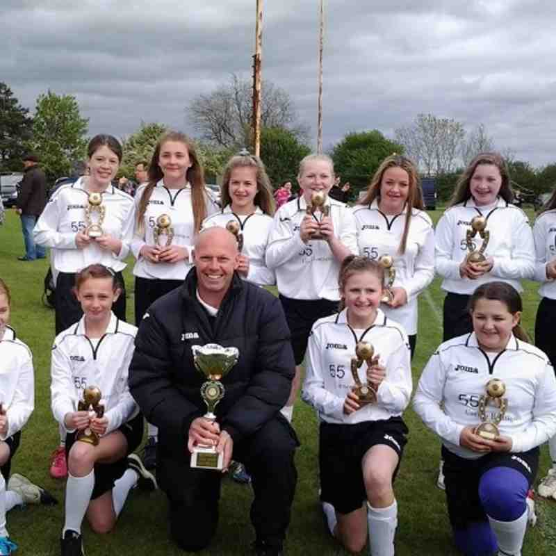 Ibstock Belles u 13s champions of the league 2013/2014
