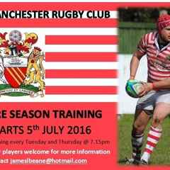 Senior Men Pre-Season Training - Starts 5th July